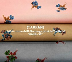 Party Tarpan 100% Cotton Drill Discharge Print Laffer Finish Fabric, Dry clean