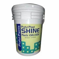 High Sheen Water Based Paint White Base-1-2 Praful Plast Shine Plastic Emulsion Paint