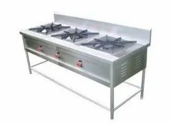 3 Burner Commercial LPG Stove