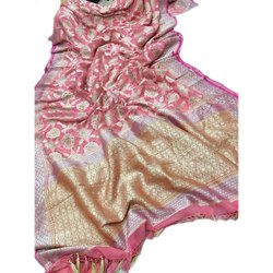 6.3 m (with blouse piece) Banarasi Silk Georgette Handbrush Dye Saree, Packaging Type: Plastic Bag, With Blouse Piece