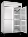 Stainless Steel Frost Free 4 Door Vertical Chiller - Hrw-147, Capacity: 1365 Litre
