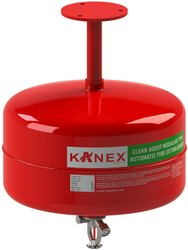 KANEX BRAND Ceiling Mounted Fire Extinguisher, Capacity: CLEAN AGENT AUTOMATIC MODULAR
