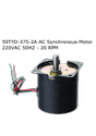 59TYD-375-2A AC Synchronous Motor 220VAC 50HZ - 20 RPM