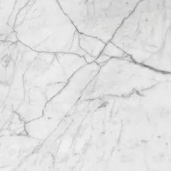 White Marble Bathroom Floor Tile, For Flooring, Thickness: 17 mm