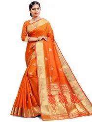 Refreshing Art Silk Saree With Blouse By Parvati Fabric (21824)