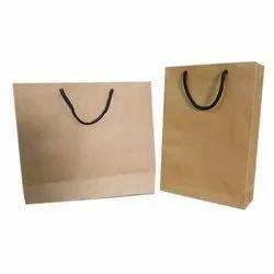 Plain Brown Kraft Paper Grocery Bag, Capacity: 1-7Kg