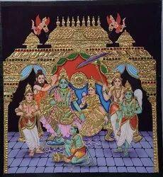 Ramarpattabishekam Tanjore Painting