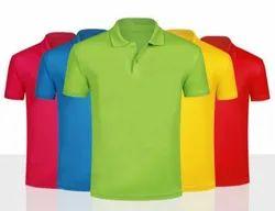 Polo Neck Half Sleeve Mens Plain Collar T Shirt, Size: S to 2XL