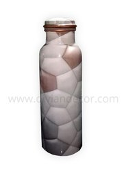 Football Printed Meenakari Copper Bottle