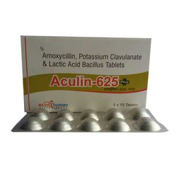 Aculin-625 Plus  Amoxycillin-500mg ,Clavulanic Acid-125mg & (60 million) (ALU ALU