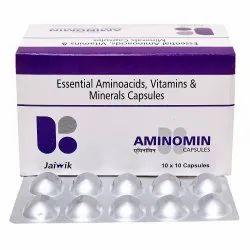 Aminoacid, Vitamins & Minerals Capsules.