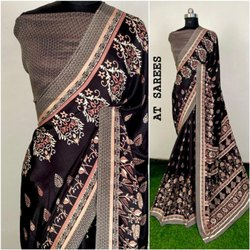 Silk Party Wear Printed Fancy Saree