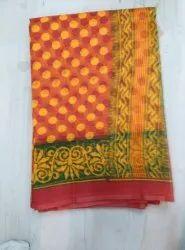 Supernet Bandhani Printed Saree