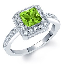 Natural Peridot Gemstone 925 Sterling Silver Ring Handmade Silver Jewelry wholesaler