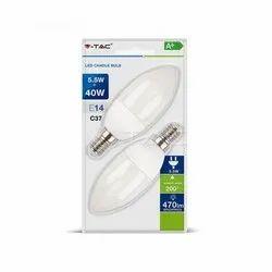 Cool Daylight 5.5 Watt V-TAC LED Candle Bulb
