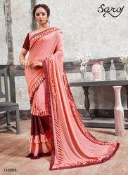 Party Wear Fancy Frill Saree