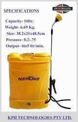NEPTUNE Brass AUTOMATIC BATTERY SPRAYER TANK, For Sanitizing Area, 6.69KG