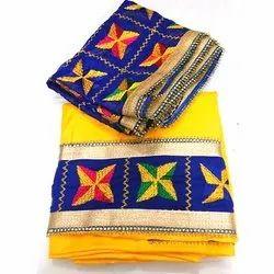Party Wear Unstitched Ladies Cotton Phulkari Suits