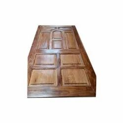 Finished Teak Wood Door With Polish, for Home and Office