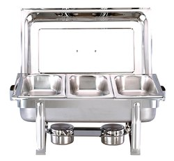 Stainless Steel Rectangular Chafing Dish Three Pan