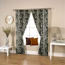 Floral Grey-Black Curtain
