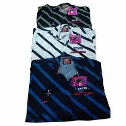 Cotton Casual Wear Kids Striped Shirts, 14-38
