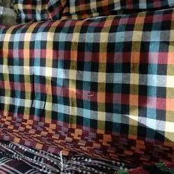 Cotton Check Mattress Fabric, 100-150 Gsm
