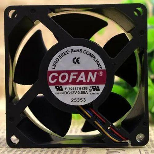 Plastic Cofan Cooling Fan, 12v Dc, F-7038TH12B