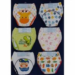 Multicolor Cotton Printed Baby Panty, 1-2yr