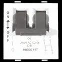 Press Fit Edge Double Pole MCB