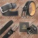 Mens Formal Black Leather Belt