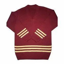 Woolen Full Sleeve School Uniform Sweater