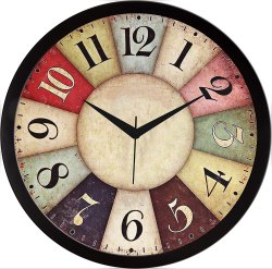 Plastic Designer Wall Clock for Home/Living Room/Bedroom/Kitchen