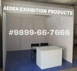 白色铝制框架和面板展览摊位,大小:3x3焊接