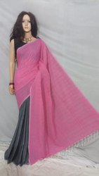 Plain design handloom saree