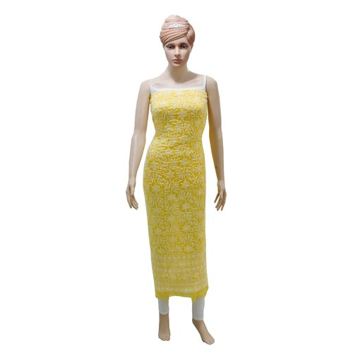 Women Faux Georgette Unstitched Dress