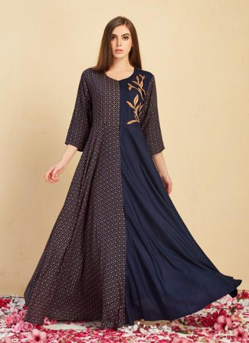 043c827fb0 Girl Readymade New Designer Rayon Kurtis For Party, Rs 1225 /piece ...