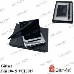 黑色钢笔-104和VCH-019礼品套装,用于送礼