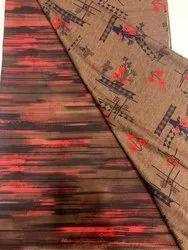 Brown Printed Cotton Fabric Dress