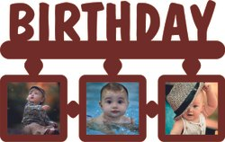 Brown Sublimation Blank Wooden Wall Collage Birthday