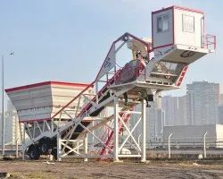 Electric Powerol Mobile Concrete Batching Plant, Output Capacity: 1600 Liters