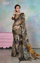 Formal Wear Brasso Printed Saree