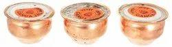 Kesar Zems Copper Gangajal Loti Set (4 cm x 4 cm x 3 cm, Copper, Pack of 3)