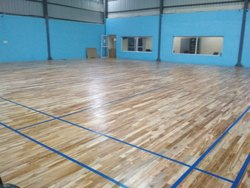 Indoor Teak Wood Badminton Court Flooring