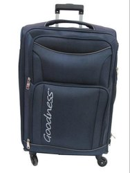 Blue Polyester Luggage Trolley Bag