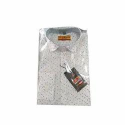 R B Brand Cotton Mens Fancy Shirt, Packaging Type: Packet