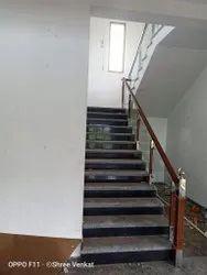 Modular Wooden Glass Handrail