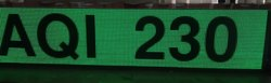 Aluminum Red AQI Display Board, Shape: Round