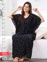 Western Cotton rayon Ladies Night Gowns