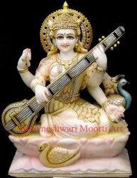 Saraswati Marble Statue
